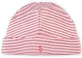 Ralph Lauren Girls' Striped Beanie-Style Hat