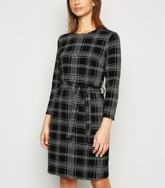 New Look Check Belted Mini Tunic Dress