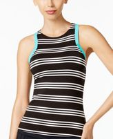 Jag Harbour Stripe High-Neck Racerback Tankini Top