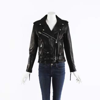 N. Non Signé / Unsigned Non Signe / Unsigned \N Black Leather Jackets