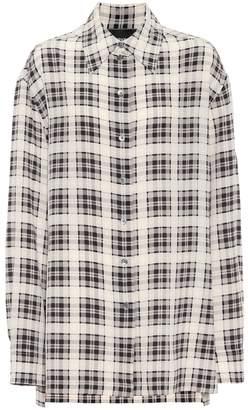 Marc Jacobs Checked silk shirt