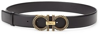 Salvatore Ferragamo New Gancini Chain Leather Belt