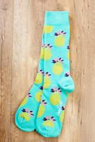 Happy Socks Aqua Pineapple Blue