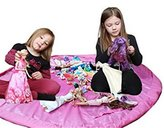 """Adina Large 60"""" Children Play Mat and a Toy Storage Bag Kid's Activity Mat That Folds to a Portable Toy Organizer"""