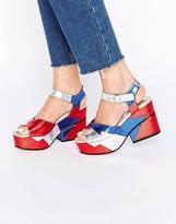 Asos TOOT TOOT Chunky Platform Sandals