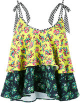 House of Holland layered floral vest - women - Cotton/Polyester - 12