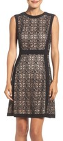 Adrianna Papell Women's Lace Fit & Flare Dress