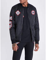 Boy London Patch appliqué shell bomber jacket