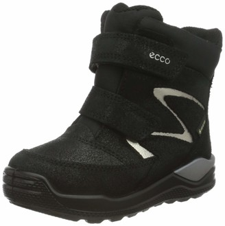 Ecco Baby Girls' Urban Mini Black Metallic Suede Snow boot 6 Child UK