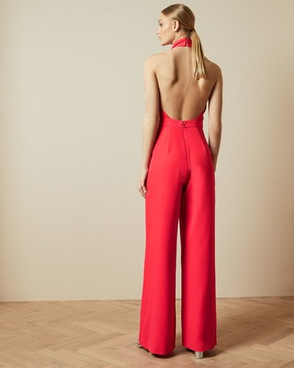 Ted Baker Halter Neck Wide Leg Jumpsuit