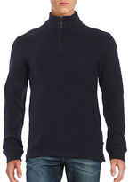 Black Brown 1826 Zip Placket Sweater