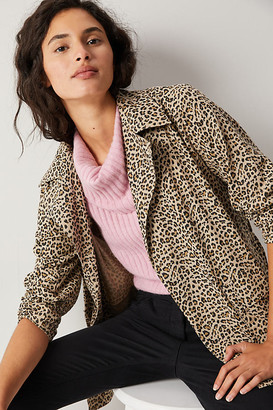 Leopard Trench Coat By Solitaire in Assorted Size XS