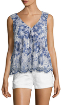 French Connection Antonia Lace Overlay Top