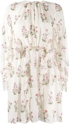Giambattista Valli Floral-Print Silk Mini Dress