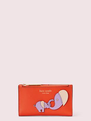 Kate Spade Applique Tiny Small Slim Bifold Wallet