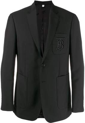 Burberry embroidered monogram jacket