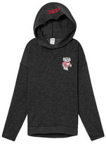 PINK University Of Wisconsin Crossover Pullover