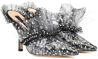 Midnight 00 Tulle and PVC mules