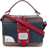 Versace small Stardvst satchel - women - Leather/Cotton - One Size