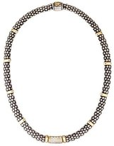 Lagos Two-Tone Diamond Caviar Bead Necklace