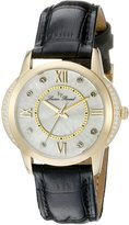 Lucien Piccard Women's LP-40001-YG-02S Dalida Analog Display Quartz Black Watch