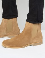 Zign Shoes Suede Chelsea Boots