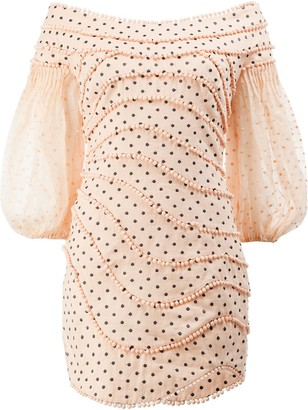 Zimmermann Polka Dots Mini Dress