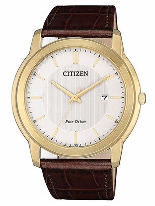 Citizen Women's Analogue Quartz Watch with Leather Strap AW1212-10A