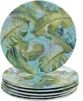 Certified International Tropicana 6-piece Melamine Salad Plate Set