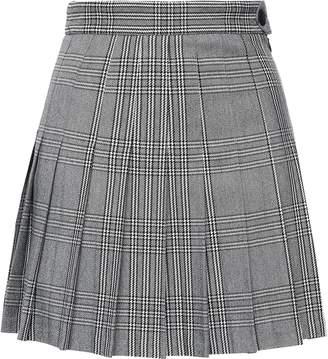 Maje Pleated Woven Mini Skirt