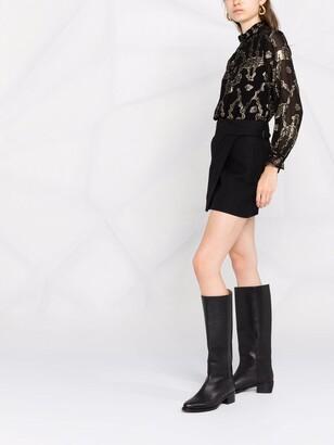 BA&SH Droo metallic fil coupe blouse