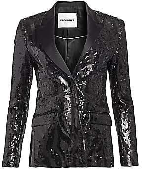f3fe9233fcd3 Each X Other Women's Sequin Tuxedo Jacket