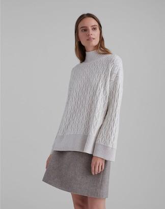 Club Monaco Cashmere Diamond Cable Sweater