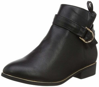 New Look Women's WF Daring IC-PU BKL Pipe AKL BT30:1:S203 Ankle Boots