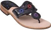 JACK ROGERS Navajo Thong Sandal Multi/Black Patent