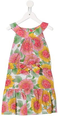 Little Bambah Sunflower-print midi dress