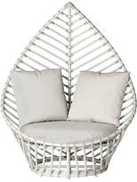 David Francis Furniture Palm Outdoor Chair - White