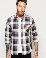 Nudie Jeans Nudie Shirt Stanley Button Down Block Check - Black