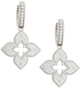 Roberto Coin Petite Venetian 18K White Gold Diamond Earrings