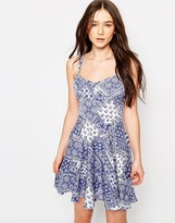 Brave Soul Cross Over Strap Detail Sun Dress