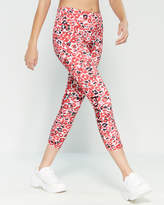 Bebe Red Leopard Print Leggings