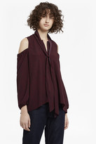 French Connection Callie Crepe Cold Shoulder Blouse