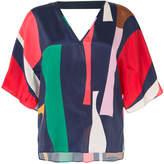 Ginger & Smart geometric print shift blouse