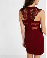 Express sleeveless lace yoke dress