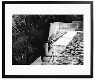 Sonic Editions Large Catherine Deneuve Relaxing Around A Swimming Pool Art Print