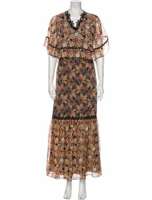 Anna Sui Silk Long Dress