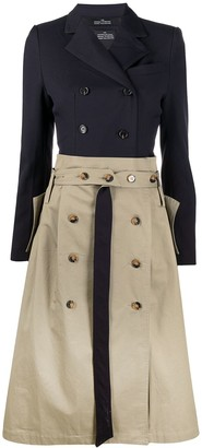 Rokh Two-Tone Trench Dress