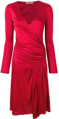 Roberto Cavalli draped detail dress