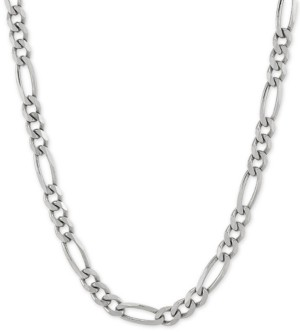 "Giani Bernini Figaro Link 18"" Chain Necklace in Sterling Silver"