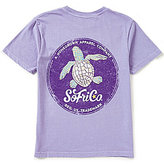 Southern Fried Cotton Big Boys 8-20 Sea Stamp Short-Sleeve Tee
